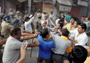 MP: Congress workers stage protest against CM Shivraj Chauhan